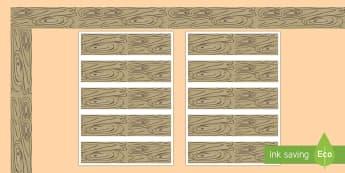 Rustic Chic Wood Display Borders - Classroom, Display, rustic, wood, wooden, bark, tree, old, display, border, classroom