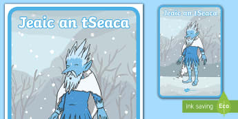 Jack Frost Display Poster Gaeilge - Jack Frost translated resources Gaeilge ROI,Jeaic an tSeaca,Irish