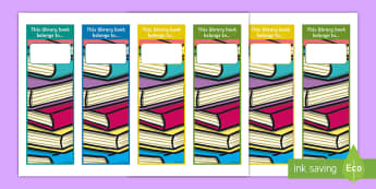 Library Loans Editable Bookmarks - book mark, books, borrowing, reading, guided reading,