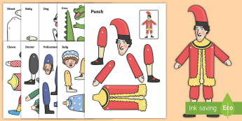 Split Pin (Punch And Judy Characters) - punch and judy, characters, story, split pin, split, pin, moving, puppet, character