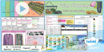French: Going Shopping: Year 4 Unit Pack - french, languages, grammar, shopping, food, clothes
