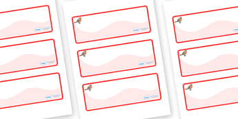 Robin Themed Editable Drawer-Peg-Name Labels (Colourful) - Themed Classroom Label Templates, Resource Labels, Name Labels, Editable Labels, Drawer Labels, Coat Peg Labels, Peg Label, KS1 Labels, Foundation Labels, Foundation Stage Labels, Teaching La