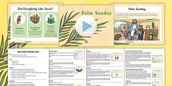 KS2 Palm Sunday Assembly Pack - Easter, Palm Sunday, assembly, powerpoint, ks2