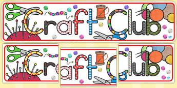 Craft Club Display Banner (Australia) - banners, displays, visual
