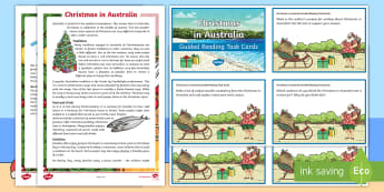 Christmas in Australia Guided Reading Challenge Cards - Comprehension, reading strategies, reading groups, christmas around the world, literacy,Australia