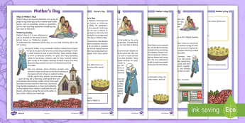 LKS2 Mother's Day  Differentiated Fact File - events, sunday, religious, festivals, grandmother