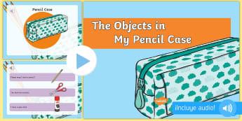 Τα αντικείμενα στην κασετίνα μου παρουσίαση στα Αγγλικά - παρουσίαση, αγγλικά, κασετίνα, αντικείμενα, μολύβι, πέν