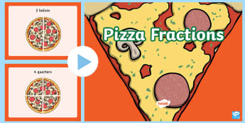 Pizza Fractions PowerPoint - New Zealand, maths, fractions, pizza, Years 1-3, divide, half, halves, sharing, quarters, quarter