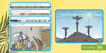 Cuento: La historia de la Semana Santa - historia de Semana Santa, Semana Santa, Pascua, religión, Jesús, Cristo, crucificción, cuento, se