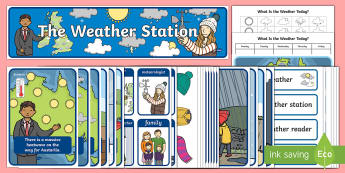 Weather Station Display Pack - Australia, weather, role play, weather station, weather reporter, heatwave, TV reporter,