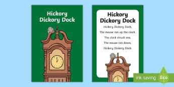 Hickory Dickory Dock Nursery Rhyme IKEA Tolsby Frame - Hickory Dickory Dock, nursery rhyme, Ikea Tolsby frames, baby signing, baby sign language, communica
