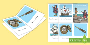 Columbus Day Emergent Reader - christopher columbus, emergent reader, columbus holiday, nina, pinta, santa maria, explorer