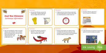 Anul Nou Chinezesc Cartonașe informative - cultură generală, festivalurile lumii, sărbători importante, mondial, international