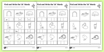 Ch Phonics - Find and Write the ch Words Differentiated Activity Sheet Pack, worksheet