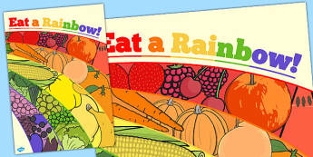 Eat a Rainbow Large Display Poster - eat, rainbow, display poster