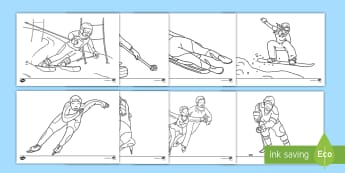 Winter Olympics Colouring Pages English/Spanish - EAL, Winter Olympics Colouring Pages - winter, olympic, colouring, colering, colourng, wnter, wintre