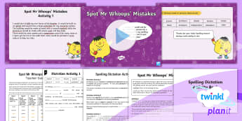 PlanIt Spelling Year 3 Term 3B Assess and Review Spelling Pack - Spellings, Year 3, term 3B, week 7, assess, review, assessment, dictation passage, spelling mistakes