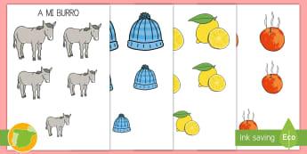 A mi burro ordenar por tamaño  - ordenar por tamaño, size sorting, canción, lógico, matemático, lógica,Spanish