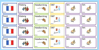 Editable Additional Book Labels - KS1, EYFS, Foundation stage, book label, editable label, subject labels, exercise book, workbook labels, textbook labels