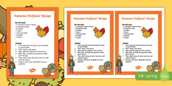 Autumn Treasure Perfume Activity