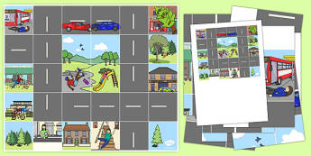 Bee Bot Emergency Rescue Mat - Paramedics, ambulance, 999, emergency, rescue, help, Forwards, backwards, left, right, clear, pause, buttons, stop, travel, park, houses, shop, school, grocery, bus stop, ambulance station