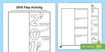 2018 New Year Flap Activity  - 2018 Flap Activity - 2018, flap activity, flap, activity, new year, year, new, eighteen,