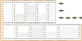 Acacia Tree Themed Page Borders - acacia tree, page borders, acacia, tree, page, borders