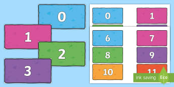 Numbers 0-200 on Multicoloured Bricks - Numbers 0-200 on Colourful Speech Bubbles - numbers, 0-200, colourful, bricks,numbes,nubers,numbes 0