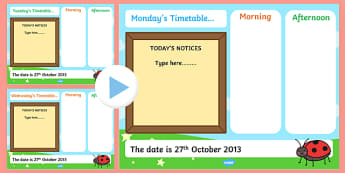 KS1 Visual Timetable Interactive PowerPoint Editable - KS1, timetable, interactive, powerpoint, editable, interactive powerpoint, editable powerpoint