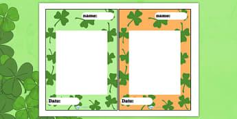 St Patricks Day Editable Note - st patrick, st patricks day, note