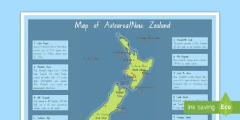 New Zealand Map Geographical Display Posters - New Zealand Geography, maps, Maori, lakes, rivers, mountains, seas.