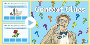 Context Clues PowerPoint Game - Vocabulary, Reading, reading Strategies, understanding Text, word meaning, synonyms