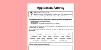Cohesion Within Paragraphs Application Worksheet / Activity Sheet - spag, english, planit, cohesion, paragraphs, worksheet