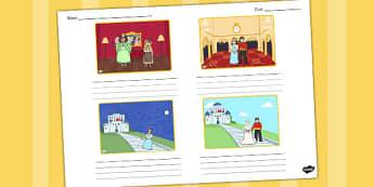 Cinderella Storyboard Template - cinderella, storyboard, template