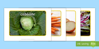 Vegetables Display Photos Gaeilge - irish, gaeilge, bia, food, vegetables, glasraí, healthy eating, photos,Irish