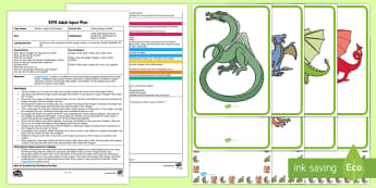 EYFS Making Dragon Models Adult Input Plan and Resource Pack - Early Years Planning, Adult Led, Foundation, Castle, Knight, Mythical Beasts, Fantasy Creatures, Exp
