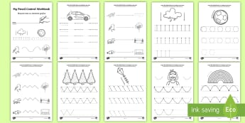 Line Handwriting Activity Sheets English/Romanian - Line Handwriting Worksheets - EAL Handwriting, tracing lines, lines, pencil contol, line guide, fine