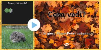 Cosa Vedi Gioco Autunnale Presentazione Powerpoint - cosa, vedi, presentazione, power, point, powerpoint, gioco, autunno, autunnale, italiano, italian, m