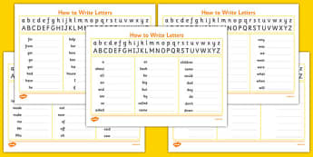 Handwriting Strip With High Frequency Words Practice - handwriting strip, high frequency words, high frequency, practice