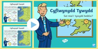 Patrymau Iaith Y Tywydd - Y tywydd, Iaith, Cymraeg, Addewid Iaith, Llythrennedd, patrymau iaith,