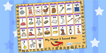 Chinese New Year Phase Sound Mat - chinese, new year, phases