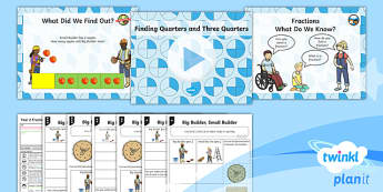 PlanIt Maths Y2 Fractions Lesson Pack Find and Name Fractions (1)