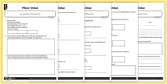 Place Value Problem Solving Differentiated Activity Sheets - Number and Place Value, problem solving, maths mastery, year 3, fun maths, hundreds, tens, ones, num
