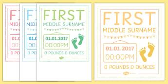 Footprints Personalised Poster Print - Personalised Poster Prints, posters, baby, new baby, babies, new parents