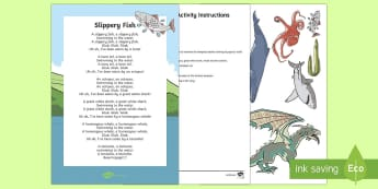 Slippery fish Resource Pack - New Zealand Back to School, waiata, mat time, song, slippery fish