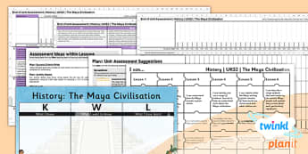 History: The Maya Civilisation UKS2 Unit Assessment Pack