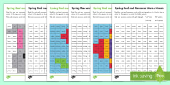 Spring Phase 5 Phonics Mosaic Activity Sheet - Spring UK,Spring,Seasons,EYFS,Reception,KS1,Year 1,Year 2,Reading,English,Phonics,Phase 5,Letters an