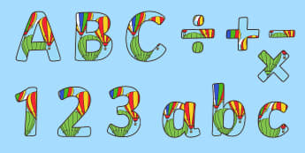 Hot Air Balloon Themed Display Lettering - Hot Air Balloon Themed Display Lettering - alphabet, phonemes, hot air, phonems, ballon, aplhabet, a