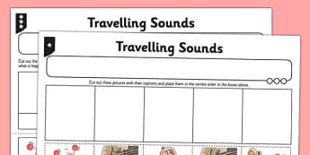 Travelling Sounds Worksheet / Activity Sheet - worksheet / activity sheet, travelling sounds, sounds, worksheet