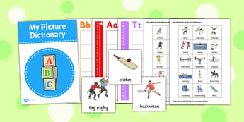 Sport Picture Dictionary Word Cards - sport, picture, word, cards
